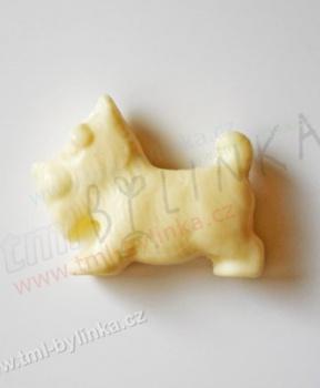 MÝDLO PEJSEK 25g mýdlo bílý pejsek, mýdlo, přírodní mýdlo, bílý pejsek, pomeranč
