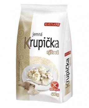 RÝŽOVÁ KRUPIČKA jemná 400 g rýžová krupička, jemná rýžová krupička, bezlepková krupička