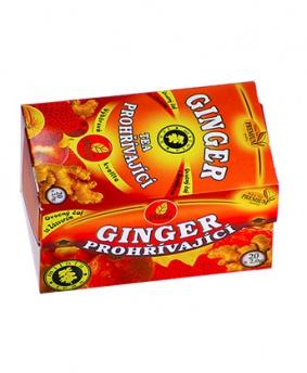 GINGER TEA PROHŘÍVAJÍCÍ porcovaný čaj 40g zázvor,zažívání,trávení,nachlazení,detoxikace