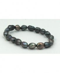 ČERNÉ ŘÍČNÍ PERLY náramek 8 mm černé perly, perly, náramek