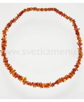 JANTAR náhrdelník 56 cm jantar, náhrdelník