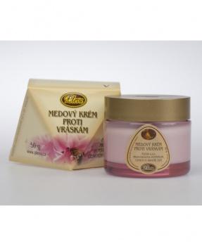 MEDOVÝ KREM PROTI VRÁSKÁM 50g medový krém proti vráskám, med, proti vráskám, vrásky, pleva