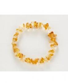 CITRÍN nepravidelné kamínky  citrín, hojnost, náramek. trávení, slinivka, menopauza