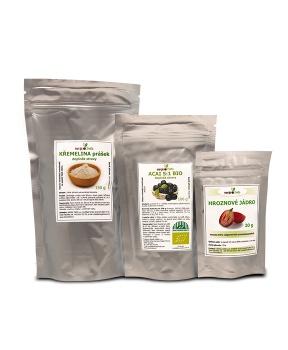 ZDRAVÁ POKOŽKA acai berry extrakt, hroznové jadérko extrakt, křemelina prášek kůže,acai,hroznové jadérko,křemelina,antioxidanty,pokožka,vlasy,nehty,hubnutí,cévy