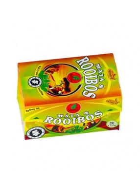 ROOIBOS S MÁTOU porcovaný čaj 40 g rooibos, máta, trávení, fermentovaný rooibos, hubnutí, pro sportovce, sport, minerály, bez kofeinu, dieta