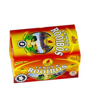 ROOIBOS S CITRONEM porcovaný čaj 40 g rooibos, rooibos s citronem,citron, fermentovaný rooibos, hubnutí, pro sportovce, sport, minerály, bez kofeinu, dieta