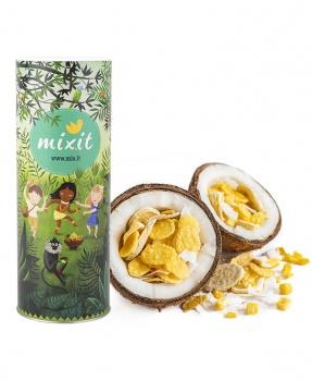 MÜSLI NA PALMĚ 380 g müsli bez palmového tuku, bez cukru, snídaně, ovoce, müsli, na palmě, mixit, kokos