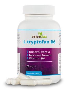 L-TRYPTOFAN B6 60 kapslí l-tryptofan, serotonin, melatonin, stres, spánek, vitamín B6