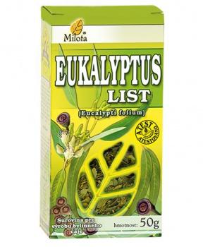 EUKALYPTUS list 50 g eukalyptus list, dýchací cesty, astma, paraziti