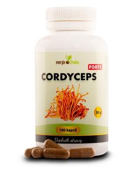 CORDYCEPS FORTE extrakt premium 100 tob. energie,únava,dlouhověkost,jing,jang,tčm,stres,extrakt,cordyceps forte