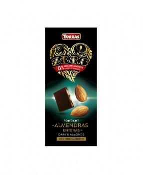 DIA HOŘKÁ ČOKOLÁDA S MANDLEMI 150 g dia hořká čokoláda s mandlemi, mandle, hořká čokoláda, pro diabetiky, maltitol, torras, hořká čokoláda, bez cukru