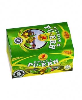 PU-ERH A CITRÓNOVÁ TRÁVA porcovaný 40 g pu-erh, pu erh, černý čaj, požírač tuků, hubnutí, dieta, metabolismus, detox, detoxikace, tuky, civilizační choroby