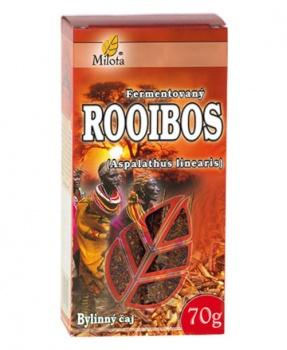 ROOIBOS fermentovaný sypaný čaj 70 g rooibos, fermentovaný rooibos, hubnutí, pro sportovce, sport, minerály, bez kofeinu, dieta