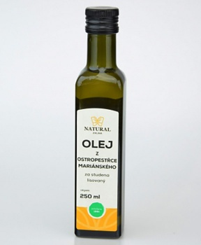 OSTROPESTŘECOVÝ OLEJ LZS 250 ml játra, zažívání, nadýmání, olej z bodláku