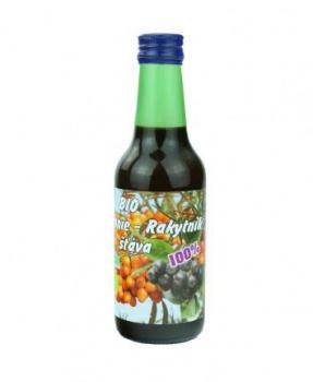 RAKYTNÍKOVÁ ŠŤÁVA s arónií 250 ml rakytník, aronie, šťáva, rakytníková šťáva, antioxidanty, imunita, štítná žláza, vitamín C