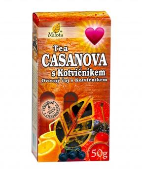 CASANOVA TEA sypaný čaj 50 g kotvičník,erekce,energie,imunita,svaly,plodnost,pohlavní ústrojí,močové ústrojí,ledviny