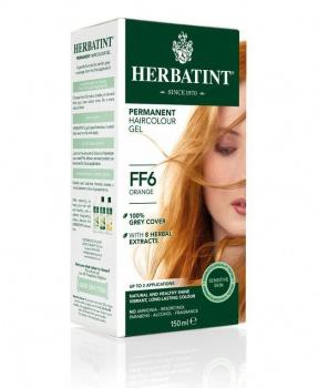 PERMANENTNÍ BARVA ORANŽOVÁ FF6 150ml permanentní barva na vlasy, barva na vlasy, oranžová, přírodní barva, herbatint
