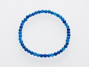 ACHÁT MODRÝ náramek 4 mm modrý achát, náramek z modrého achátu