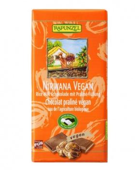 RÝŽOVÁ ČOKOLÁDA S NUGÁTEM BIO 100 g rýžová čokoláda, bio čokoláda, vegan čokoláda