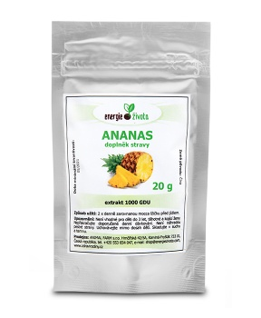 ANANAS extrakt 20 g 1000 GDU ananasový extrakt, bromelain, ananas, hubnutí, srdce, cévy, vitamin B, thyamin, nervový systém, metabolismus, zrychlení metabolismu