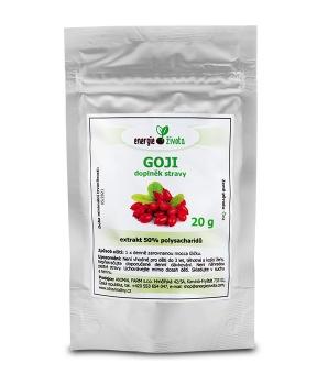 GOJI extrakt 20 g 50% polysacharidů goji, kustovnice čínská, hubnutí, játra