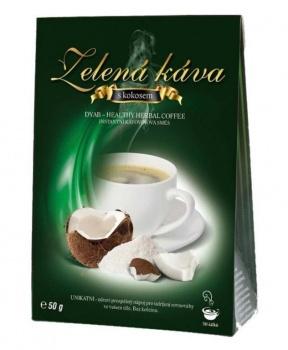 ZELENÁ KÁVA 50 g - KOKOS zelená káva, instantní kávovinový nápoj, zelená káva s kokosem, kokos, čekanková káva