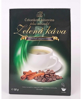 ZELENÁ KÁVA 50 g - CAPPUCINO zelená káva, bezkofeinová káva, capuccino