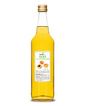 MERUŇKOVÝ OLEJ 500 ml - lisovaný za studena meruňkové jádra,B17,amygdalin,olej,100 % olej,meruňky,vitamín E,rakovina,antioxidant,draslík,pokožka,pro děti,regenerace,hydratace,suchá pleť