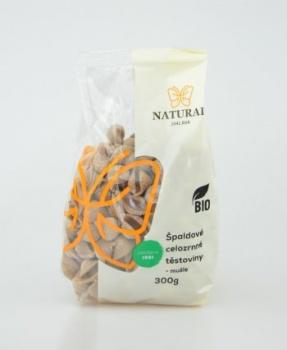 ŠPALDOVÉ CELOZRNNÉ MUŠLE BIO 300g těstoviny, špaldové těstoviny, špalda, celozrnné těstoviny, BIO, BIO těstoviny