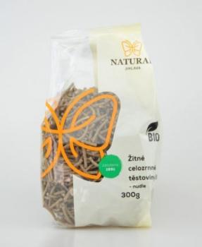 ŽITNÉ CELOZRNNÉ NUDLE BIO 300 g žitné těstoviny,zdravá příloha,těstoviny