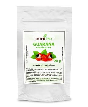 GUARANA extrakt 22% kofeinu 20 g kofein,energie,paulínie,káva,únava,hubnutí,metabolismus