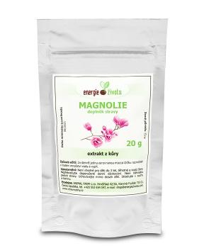 MAGNOLIE extrakt 80% fenolů 20 gramů magnolie,deprese,úzkost,psychika,pohoda,nervy,žaludek,střeva,kašel,astma,únava,vyčerpání, napětí