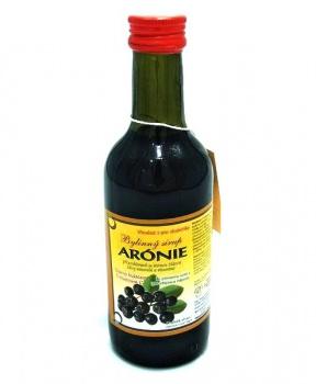 ARONIE - bylinný sirup 250 ml aronie bylinný sirup, sirup slazený fruktózou, přírodní prostředek na problémy se štítnou žlázou, přírodní přípravek na štítnou žlázu