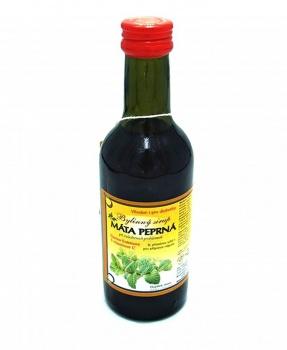 MÁTA 250 ml mátový sirup, bylinný sirup s fruktózou