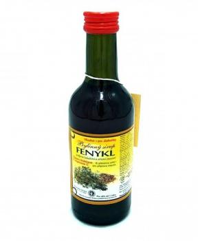 FENYKL - bylinný sirup 250 ml fenykl, sirup na trávení, sirup proti větrům, přípravek proti nadýmání, tvorba mateřského mléka