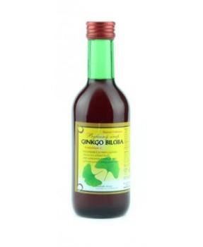GINKGO - bylinný sirup 250 ml ginkgo, sirup na prokrvení, sirup na paměť, sirup na psychiku