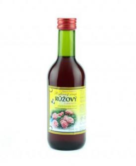 RŮŽOVÝ - bylinný sirup 250 ml růžový, růže, růžový bylinný sirup