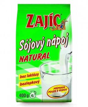 ZAJÍC sójový NATURAL 400 g sójový nápoj,sója,alternativa mléka,bez laktózy,bez lepku,bez gmo