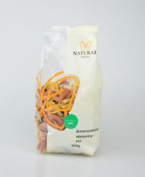 AMARANTHOVÁ VŘETENA MIX 300 g těstoviny,amarantové těstoviny,amaranthové těstoviny,vřetena,amaranth,amarant,kurkuma