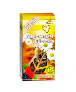DĚTSKÝ OVOCNÝ ČAJ S HEŘMÁNKEM sypaný 50g močové cesty,ledviny,vitamín C,pro děti,heřmánek