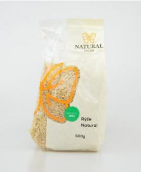RÝŽE NATURAL neloupaná 500 g rýže natural, celozrnná rýže