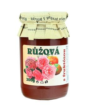 RŮŽE S FRUKTÓZOU 300 g růžová marmeláda, dia marmeláda, džem bez cukru, růže, citrón