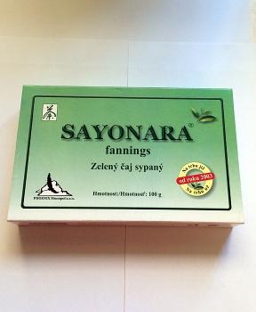 SAYONARA - ZELENÝ ČAJ sypaný 100g zelený čaj sayonara