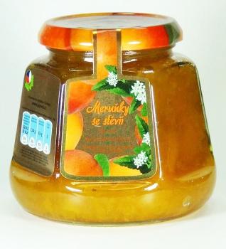 MERUŇKY BEZ CUKRU 360g meruňkový džem bez cukru, meruňkový džem se stévií