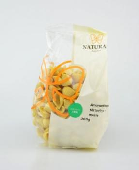 AMARANTOVÉ MUŠLIČKY těstoviny 300 g AMARANTOVÉ TĚSTOVINY MUŠLE 300g, těstoviny, mušle, amaranth