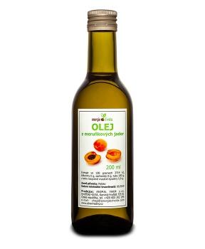 MERUŇKOVÝ OLEJ 200 ml meruňkové jádra,B17,amygdalin,olej,100 % olej,meruňky,vitamín E,rakovina,antioxidant,draslík,pokožka,pro děti,regenerace,hydratace,suchá pleť